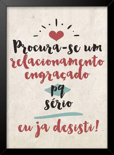 Quadro E Poster Procura Se Um Relacionamento Engraçado Poe
