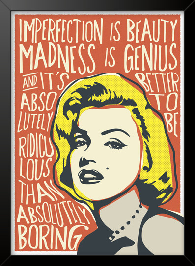 Quadro e poster Marilyn Monroe - Citações - Quadrorama