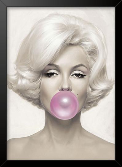 Quadro e poster Marilyn Monroe mascando chiclete - Quadrorama