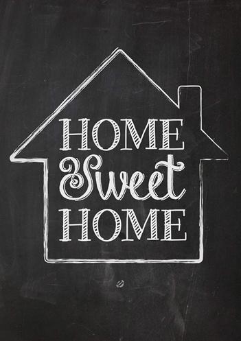 quadro e poster home sweet home quadrorama. Black Bedroom Furniture Sets. Home Design Ideas